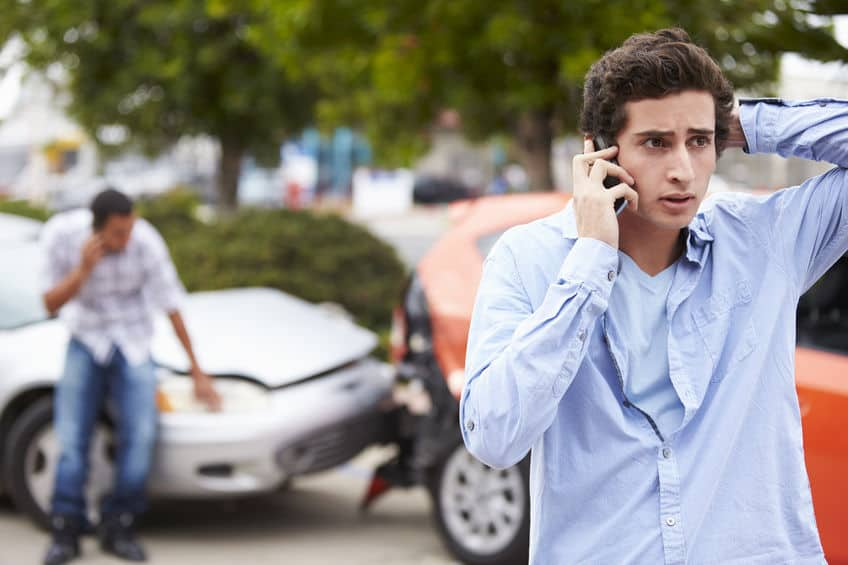 New teen driver calls insurance agent after accident